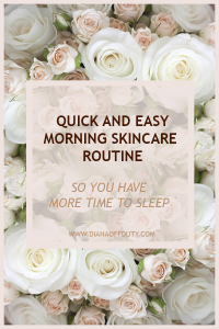 quick and easy skincare morning