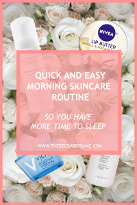 quick morning skincare routine
