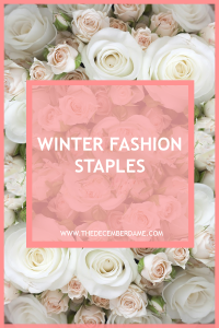 winter fashion staples