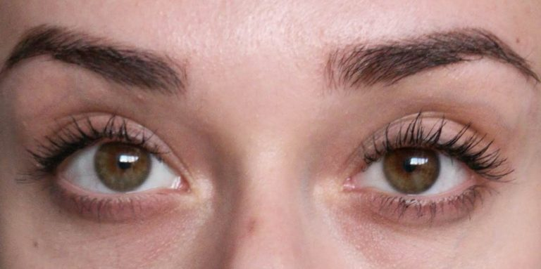 end of day with Zoeva Graphic lash mascara