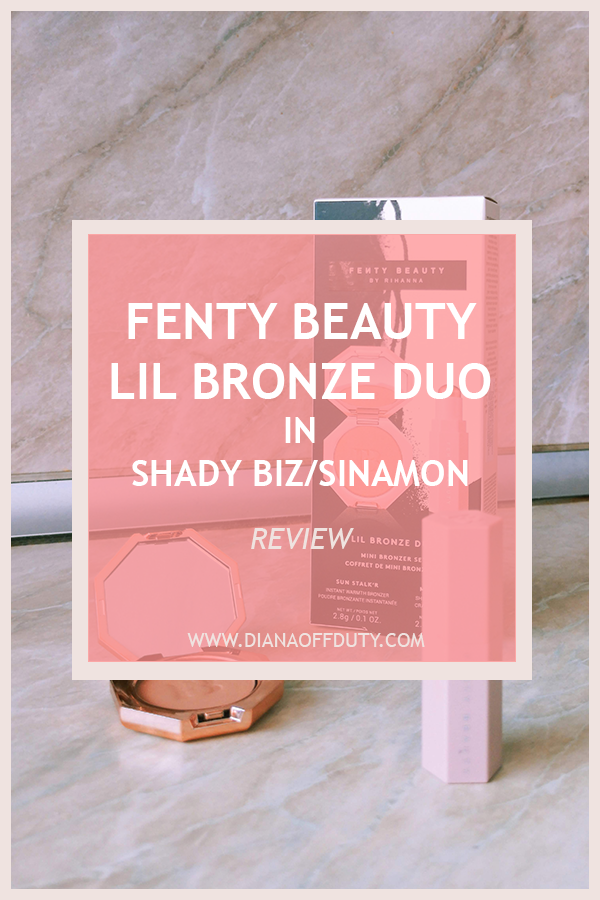 fenty beauty sun stalk'r bronzer shady biz match stix sinamon review