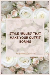The Style 'Rules' That Make Your Outfit Boring