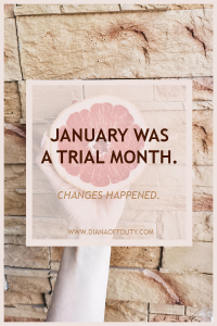 January was a trial month.