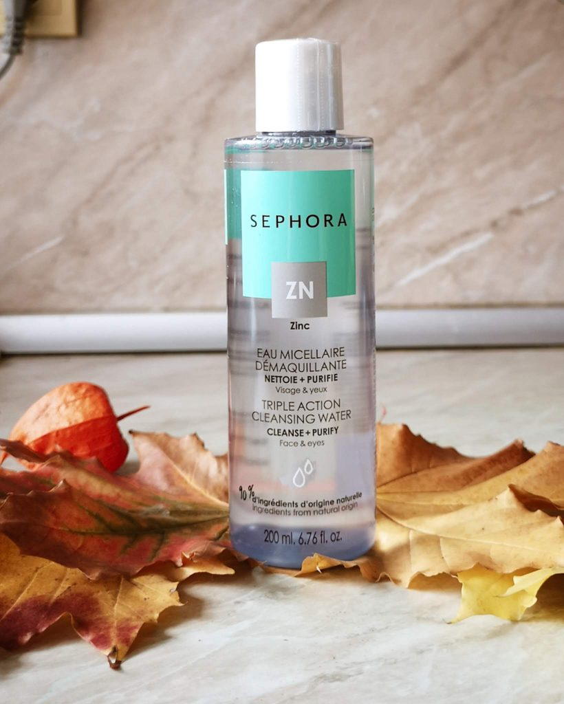 sephora collection cleansing water zinc