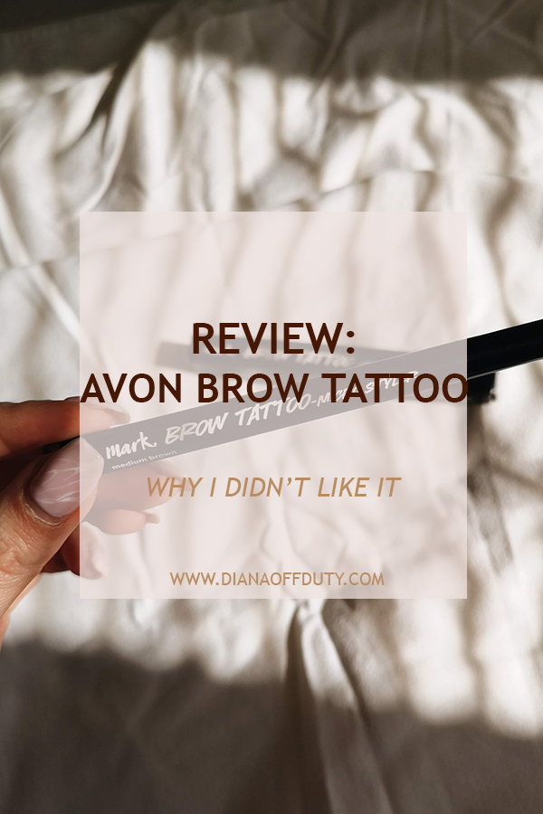 avon mark. brow tattoo review swatch