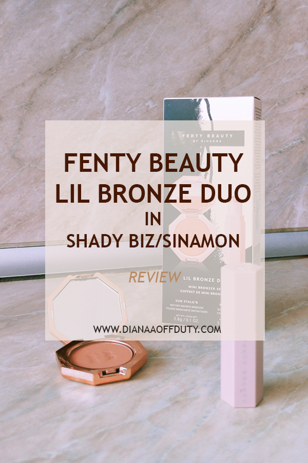 fenty bronze duo review matchstix and sun stalk'r bronzer