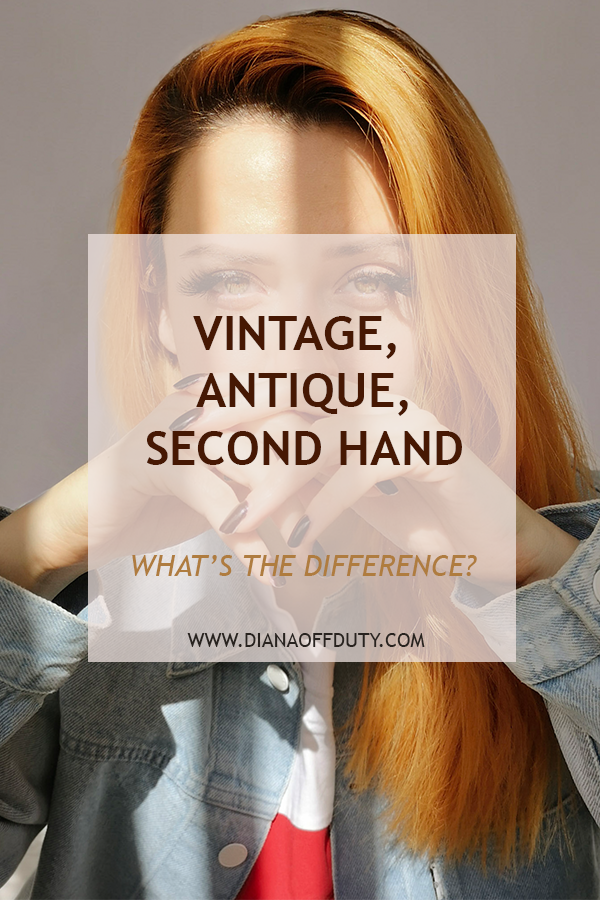 vintage antique thrifted difference
